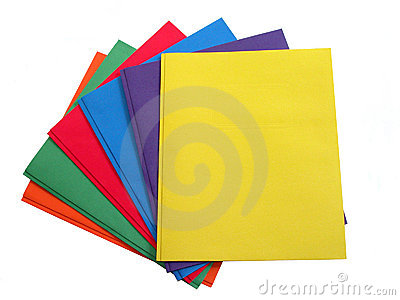 School & Office:  Stack of Multi Colored Folders