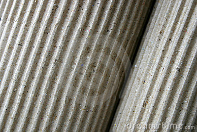 Corrugated paper, rolled-up, close-up