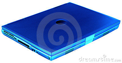 Laptop blue, isolated