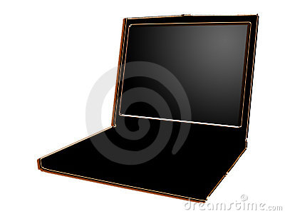 Stylized laptop