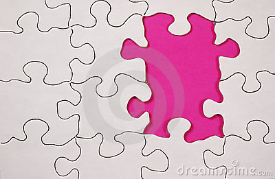 Puzzle With Pink Background