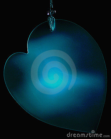 Hanging Blue Heart