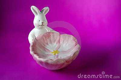 Pink Bunny Soap Dish w/Paths