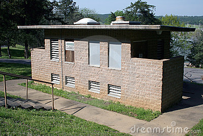Public Restroom Boarded Up Closed