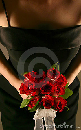 Bridesmaid Holding Roses