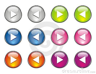 Website Buttons Many Colors