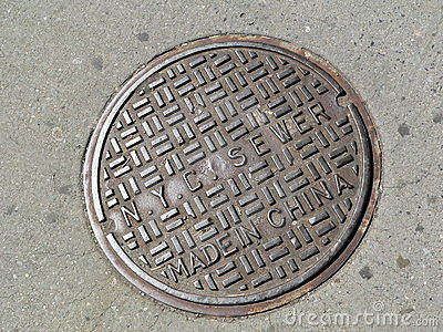 Manhole cover in New York City