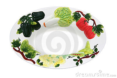 Bowl Decorated with Vegetables