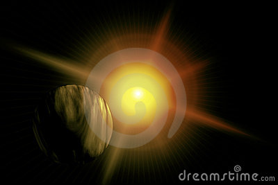 Galactic Flare Yellow Planet