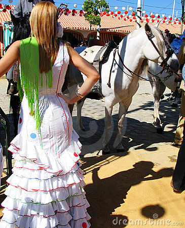 Woman at the  feria