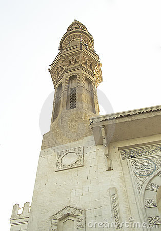 Minaret and dome of a mosque1, Egypt, Africa
