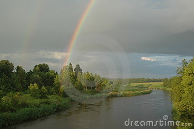 The Rainbow on river