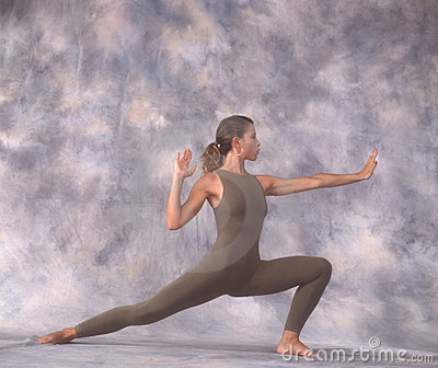 Dancer in lunge