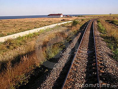 Railway on the sea shore