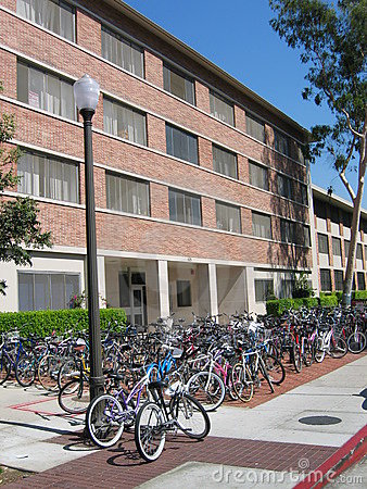 Bikes at a college
