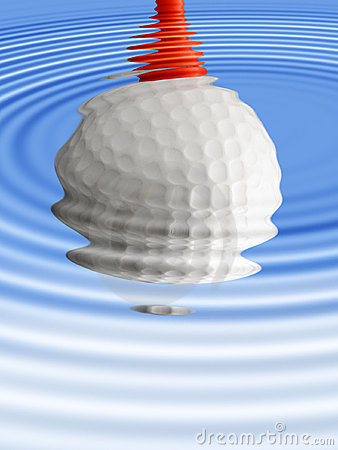 Golf ball reflection