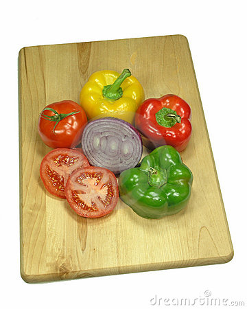 Veggies on Wood