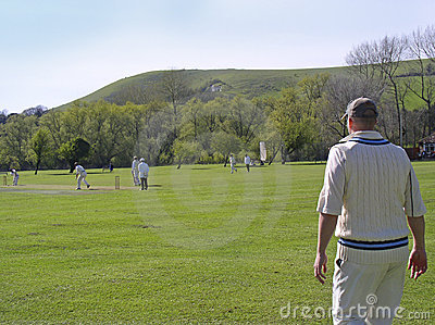 Cricket on village green