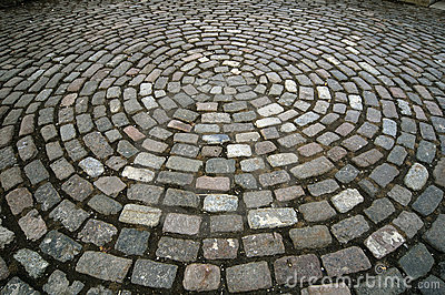 Cobblestone Circle Pattern