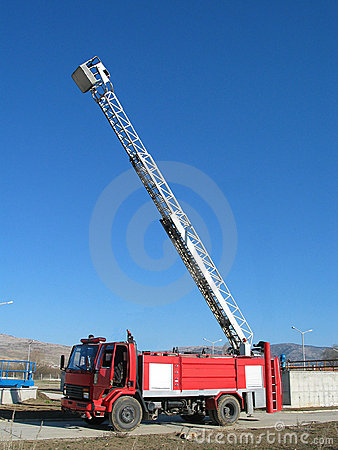 Big stairs in fire truck