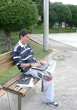 Casual laptop user