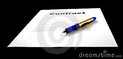 Contract & Pen