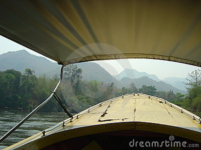 Boatrip on the river Kwai