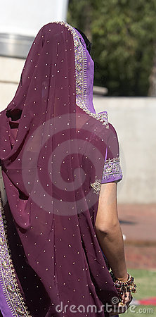 Indian Woman Wearing a Sari