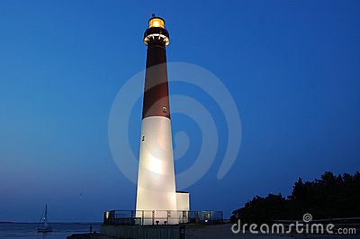 Barnegat Lighthouse At Dusk