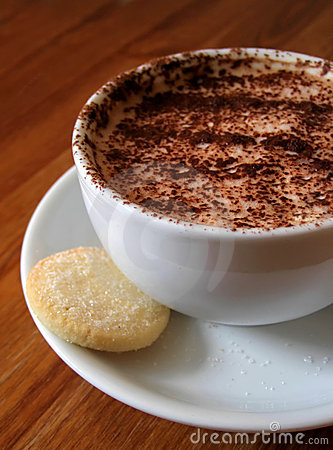 Cappucino with shortbread