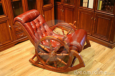 Rocking chair leather