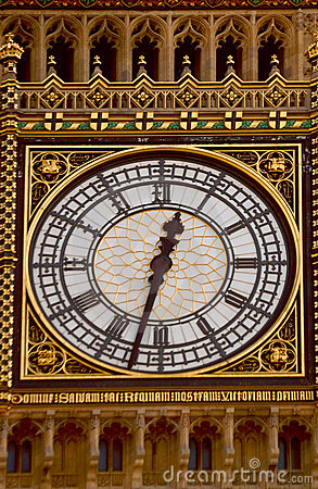 Big Ben face clock
