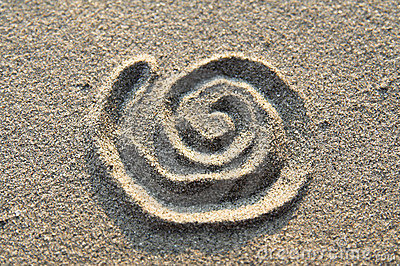Spiral sign in sand