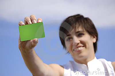 Young woman with a Credit card