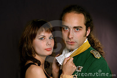 Military officer and his lady