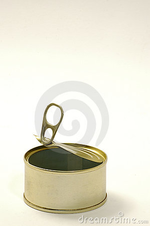 Tin can empty