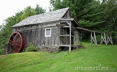 Antique Grist Mill and Water Sluice