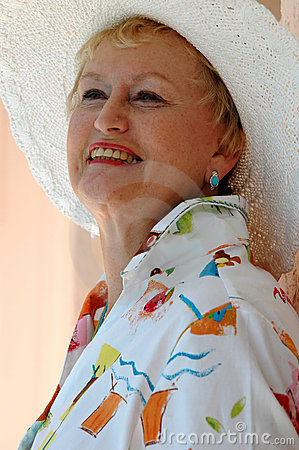 Happy senior woman