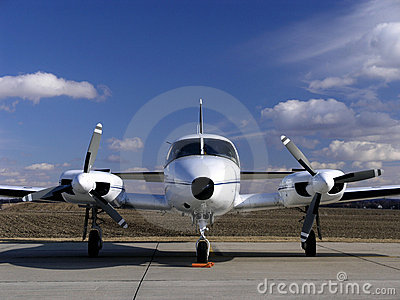 Twin engine business plane