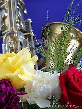 Sax and flowers