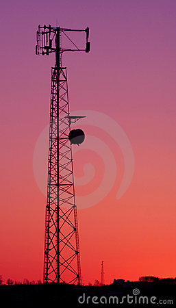 Magenta Cell Phone Tower