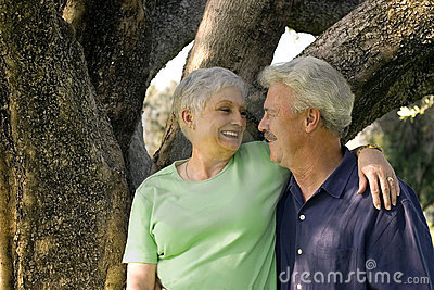Handsome older couple