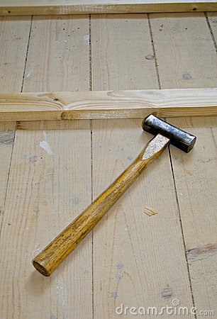 Hammer on wood