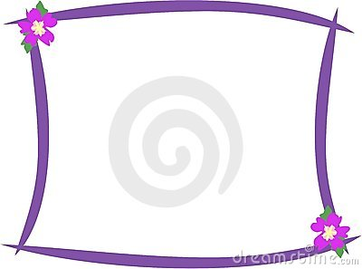 Purple Frame with Hibiscus Flowers