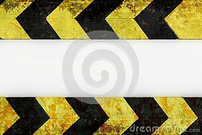 Warning hazard grunge pattern in yellow and black color