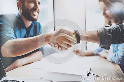 stock image of business male partnership handshake concept. photo two mans handshaking process. successful deal after great meeting