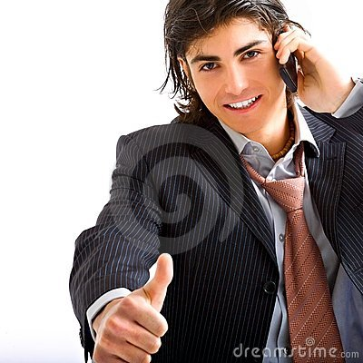 Business man with telephone