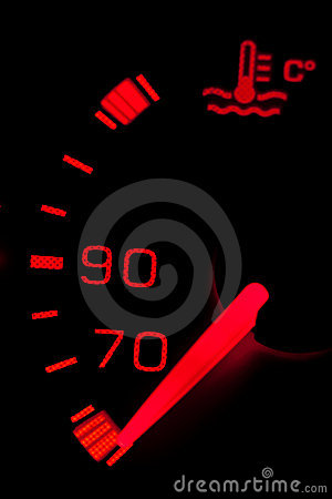 Car neon dashboard gauges