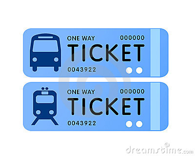 Bus and train ticket vector