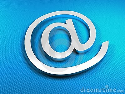 E-mail blue sign